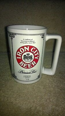 Iron City Beer Brewery Pittsburgh Mug Stein Cup Heavy Pottery Big!