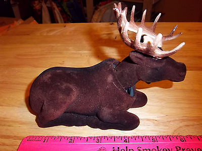NEW fuzzy Bull Moose Bobble head 6 inches long - great for car dash or at home