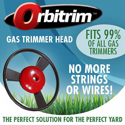 Orbitrim No String Gas Trimmer Head Solid Steel with Iron Blades for Lawn In AU!