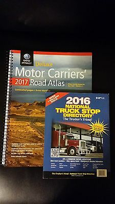 Rand McNally 2017 Deluxe Motor Carrier Atlas & 2016 Truck Stop Directory Bundle!