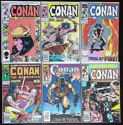 Conan The Barbarian - 6 Issue Lot - Marvel Comics Newsstand 1986 1st Print NM