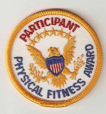 American Physical Fitness award Programme - participant's cloth patch.