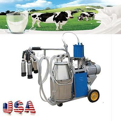 Electric Milking Machine Milker For farm Cows Bucket Stainless Steel producer oo