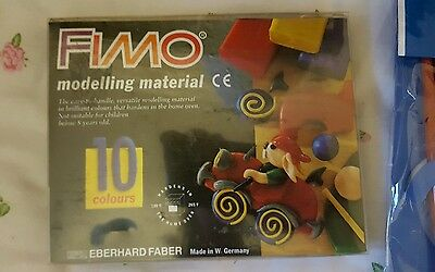 10 x 32g Fimo Soft Modelling Clay make flowers models ect and plastic  tools