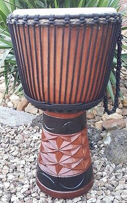 DJEMBE Hand Drum Pro African Style Bongo 60cm HUGE 30cm - 12inch Face FREE BAG +