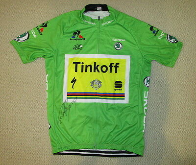 Peter Sagan signed 2016 Tour de France green cycling jersey Tinkoff Proof