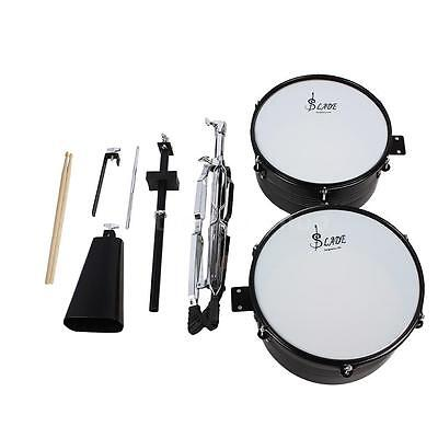 """LADE Metal Latin Percussion 13"""" & 14"""" Timbales Drum Set w/Stand&Cowbell R8B3"""
