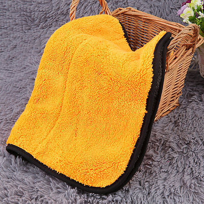 New 45cmx38cm Super Thick Plush Microfiber Car Cleaning Cloths Towel FE
