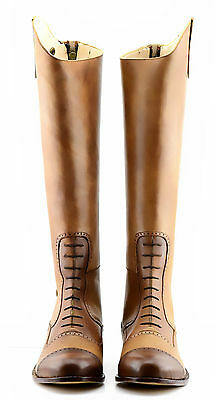 NEW Handmade Hunter Jumper Dressage Riding Boot Hand finished Two Tone UK 5-12