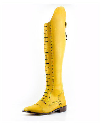 """Mux Leather Handmade Yellow Elegant Field Horse Riding Boot """"Made to Measure"""""""