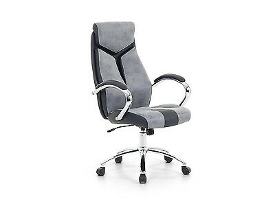 Office chair, High back, office, study, padded armrests, swivel, grey Formula1