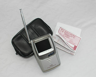 CASIO TV-970 Mini Television Carry case and instructions Battery operated B24