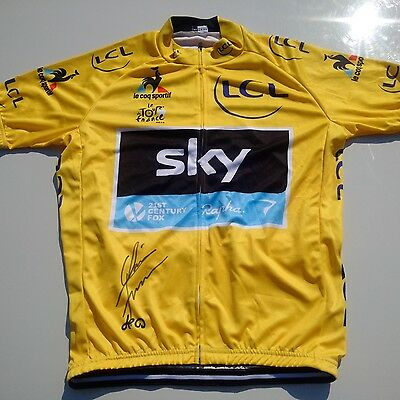 Chris Froome signed 2016 Team Sky Cycling Jersey 3x Tour De France CHAMP Vuelta