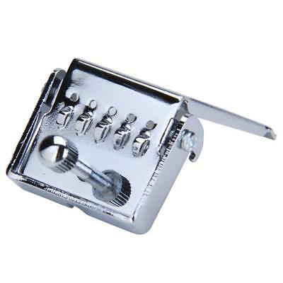 Chrome Zinc Alloy 5 String Banjo Tailpiece Plate for Banjo Replacement Parts