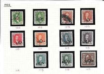 IRAQ 1932 Definitive Overprints between SG 106 & 117 mint & used