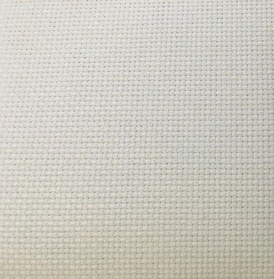 18ct - 18 count White Aida Cloth - Choose your size