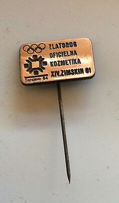 XIV Olympic Winter Games Olympics 1984 Sarajevo lapel pin