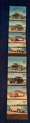 Aland vintage cars stamp booklet 2005 8 stamps mint