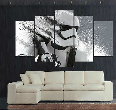HD Canvas Print home decor wall art painting,Stormtrooper Star Wars 5p/Framed