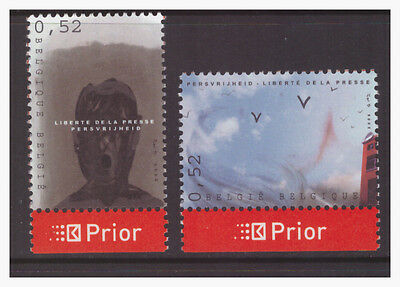 Belgium 2006 Art  Freedom of the Press   mint MNH set stamps