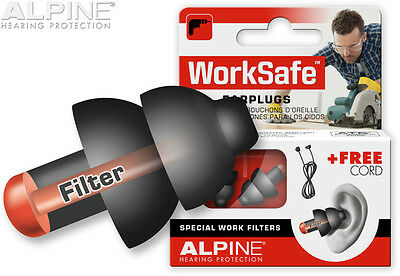 Ear Plugs Shooting Safety Work Noise Cancelling Hunting Earplugs Alpine Worksafe
