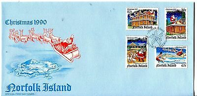 Norfolk Is 1990 Christmas FDC