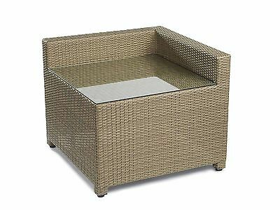 Modular Rattan Sofa Corner Coffee Table Brown Outdoor Patio Garden Furniture