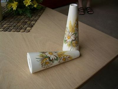 (R)        2 matching vases with floral design Purbeck Ceramics, Swanage   #