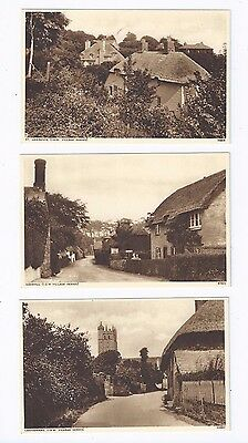Postcard Carisbrooke Godshill St Lawrence villages Isle of Wight IOW