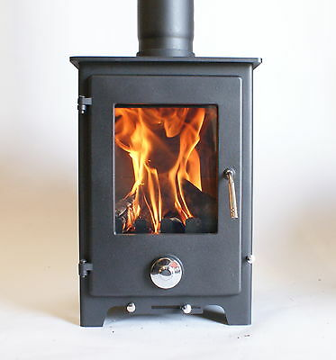 Woodburner Multi Fuel Stove 5kw Log Burning Fire Superb Finish Normally £399