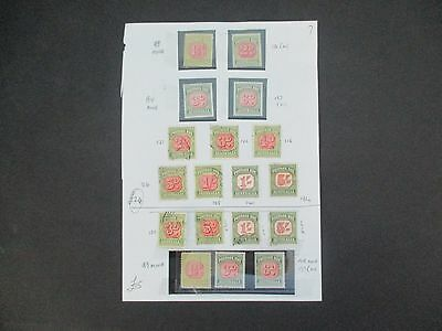 ESTATE: Postage Dues Colelction on page mint and used