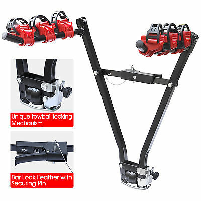 Cycle Bicycle Carrier Car Rack Tow Bar Towball 3 Bike Rear Towbar Mount