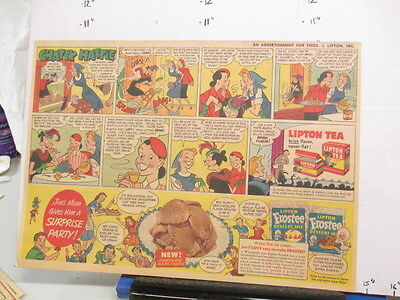 newspaper ad 1951 LIPTON Tea comic Frostee ice cream dessert mix Chatty Hattie