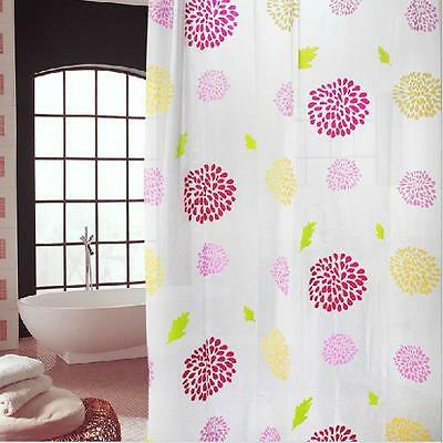 2M Sunflower Modern Bathroom Shower Curtains Extra Long with Hooks 180 x 200 cm
