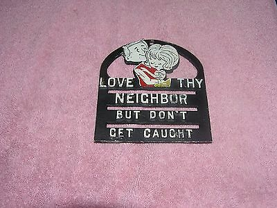 Vintage Metal Trivet  Wall Hanging With Saying Cast Aluminum Lot # 1