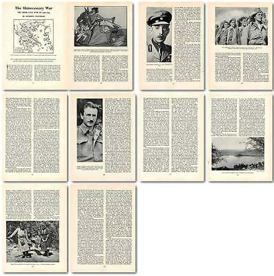 1958 The Greek Civil War Of 1946 1949 Old Article
