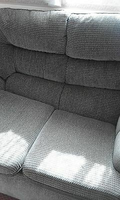 3 piece suite - 2 seater sofa & 2 reclining chairs