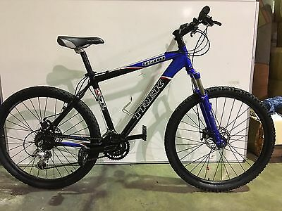 "Trek 4500 Refurbished Guaranteed Black Blue Mountain Bike - 18""  Frame"