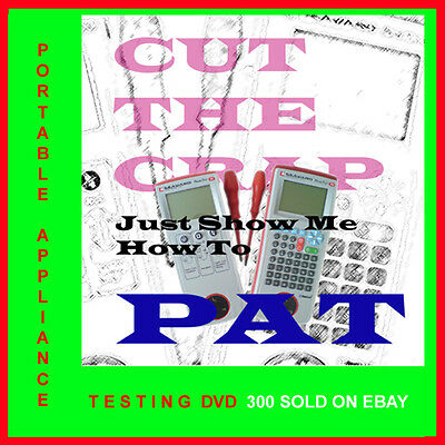 PAT Portable Appliance Testing DVD become a PAT Tester