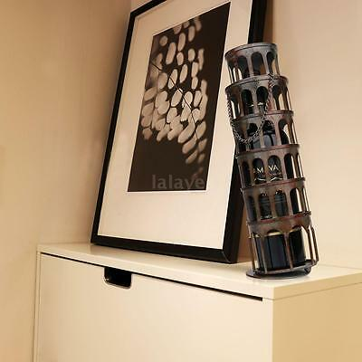 TOOARTS Metal Rustic Tower Wine Bottle Holder Rack Handwork Art Handicrafts N9A7