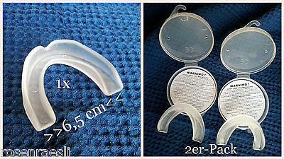 Mouth guard mouth guard Single Senior Youth. Transparent Separately or Set Of 2