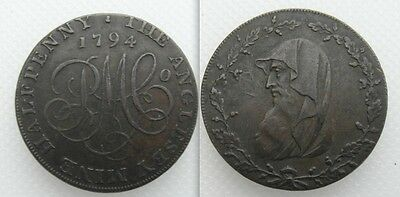 Collectable 1794 Druids Head Half-Penny Token - The Anglesey Mine