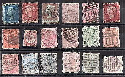 GB QV stamp collection of 18 values (unchecked) WS3085