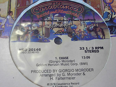 """Giorgio Moroder - Chase 1978 12"""" One Sided Record Midnight Express Rare!"""