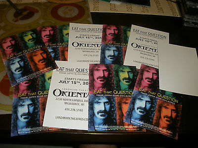 Frank Zappa Eat That Question 10 promo postcards promotional item Movie no cd lp