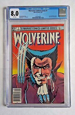 Wolverine 1 - KEY Issue 1st Solo Series - Marvel Comics Newsstand WP CGC 8.0