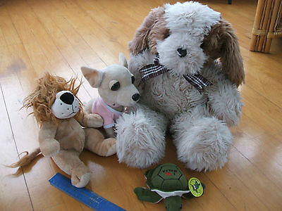 LARGE CUDDLY DOG + 3 OTHER SOFT TOYS (Unused) RRP £40.
