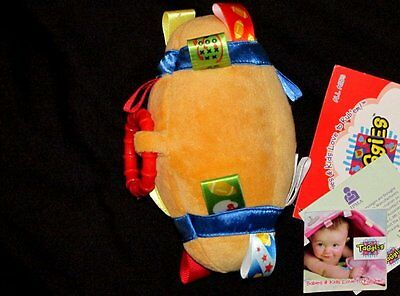 NWT Taggies Tag Toy Baby Boy Football Lovey Infant Carseat Stroller Rattle