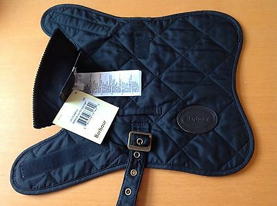 Barbour Quilted Dog Coat Jacket. Black. New With Tags. XS Extra Small.