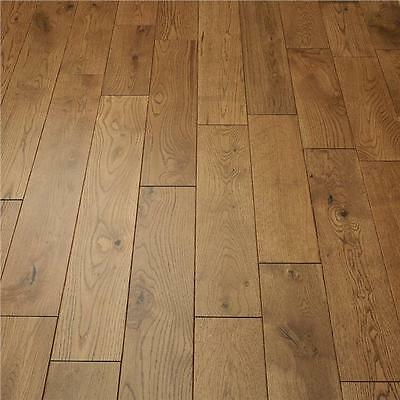 Solid Oak Flooring - Golden Handscraped - Matt Lacquered - 18mm x 125mm - @ULT